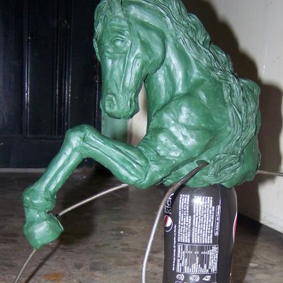 oil clay horse figure