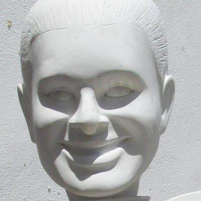 plaster portrait of woman