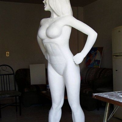 lifesize sculpture in plaster